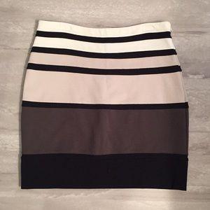 Express striped high waisted skirt